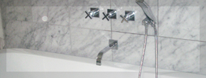 Delux bathroom suit with built in tap system